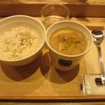 スープストックトーキョー - レンズ豆とスペルト小麦のウンブリア風スープ、胡麻ごはん