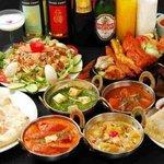 インド料理 ダルバール - パーティーメニュー \1500~ 生ビールとワイン飲み放題 \1500