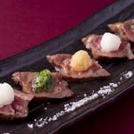 宮崎料理 万作 - 尾崎牛赤身の炙り焼き