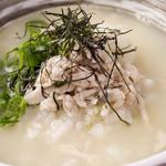 宮崎料理 万作 - 鶏スープのお茶漬け