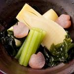宮崎料理 万作 - 春野菜の炊き合わせ