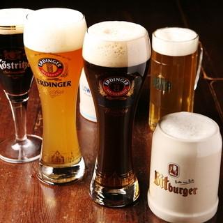 本場ドイツの樽生ビールが常時6種類