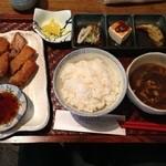 soul of okinawa 海の彼方 - ラフテーカツのランチ