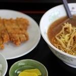 あさの - カツラーメン(別盛)醤油