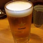 やきとり五鉄 - 生ビール( 中 )580円