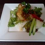 Icon - 白身フリットと春野菜のライスボウルチリマヨネーズソース