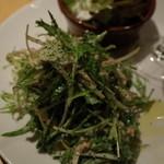 トスカーナの食卓 - トスカーナの食卓のチケッティ、水菜とツナ380円(14.02)