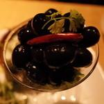 トスカーナの食卓 - トスカーナの食卓のチケッティ、オリーブoil漬380円(14.02)