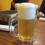 松園 - 生ビール こんもりとした泡が★