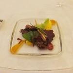 シェムラブルリス - 子牛のリエット 野菜と人参のムース添え