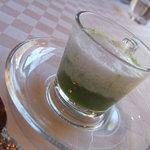 ジャルダン ポタジェ テラニシ - アミューズ  小松菜のスープ / カプチーノ仕立て