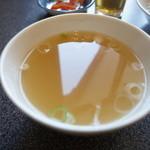 民生 - 中華スープが付きます