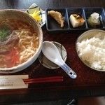 soul of okinawa 海の彼方 - ソーキソバのランチ