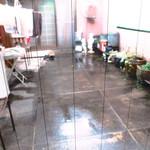 あくびカフェー - 洗濯干し場:この日は雨