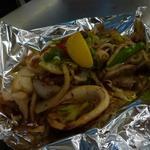 楽 - 豚と海鮮のミックス野菜炒め1500円