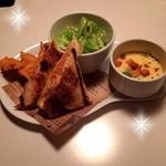 26608139 - ホットサンド・スープ・サラダ