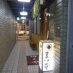 26612140 - 地下の店の前