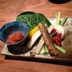 26614923 - 2014/4/某日 江戸野菜スティック 味噌ディップ ¥680