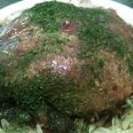 Hiroshimafuuokonomiyakiremonya - お好み焼きそば入りアップ。