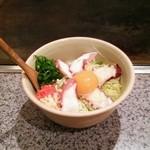 カフェ 鉄板や まつもと - 料理写真:タコ玉 かき混ぜ前