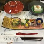 一木一草 - 前菜6種、先付けは内子豆腐