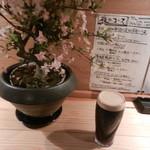 鶏とそば イロドリ - 黒ビール(ギネス)