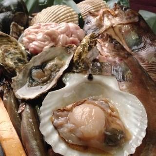 釧路漁港から空輸直送された魚介類!