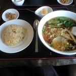 中国料理 旬来 - ラーメン半チャーハンセット 850円