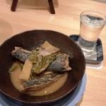 和季 - サバの味噌煮+日本酒(菊正宗)