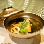 日本料理 オカモト - 2014.4 白魚と若筍のお椀