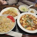 錦海楼 - 【麻婆豆腐定食@700円+炒飯200円】