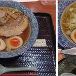 炙ラーメン 明 - 味玉らーめん。炙りラーメン 明(静岡SA下り)食彩賓館撮影。