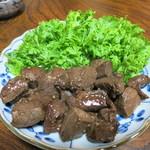 ジビエ料理アンザイ - 鹿肉のソテー ニンニク醤油味
