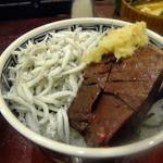 うなぎ 米花 - カツオとキビナゴ丼