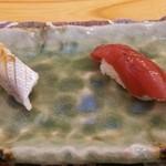 すし追 - 春子(小鯛)の酢〆、鮪の漬け