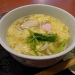 つるつるうどん青空 - 玉子とじうどん(2014.4.5訪問)