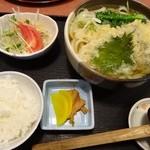 つるつるうどん青空 - 天ぷらうどん定食(2014.4.5訪問)