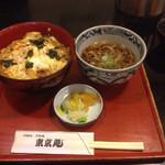 東京庵 - 天かす玉子丼そばセット 680円
