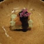 壽山 - 2014/04ホワイトアスパラに雲丹
