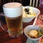 和民 - とりあえずビールとお通し!