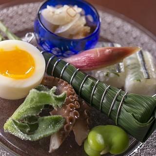 地元の旬で新鮮な食材を活かした絶品の懐石料理