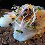 然荘 - 前菜の鯛のカルパッチョ