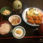 奈良屋 - カキフライ定食  800円