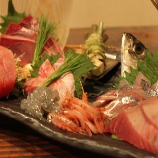 """◆鮮魚◆地魚を始めとする海の幸は、是非""""お刺身""""で!!"""