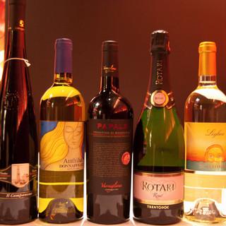 お料理と相性抜群なワインを多数ご用意しております☆