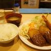 洋食屋 双平 - 料理写真:ミックス定食900円、エビフライ×1、ミンチカツ×2