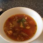 綉花 - Bランチのスープ。カレートマトスープ。