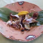 御宿 海舟 - いかゲソ塩焼き(いか活造り定食)