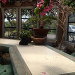 ガーデンカフェドットコム - 温室のテーブル