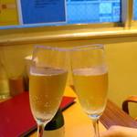atehaca - 泡で乾杯〜♪